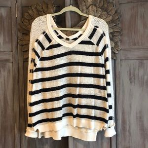 Free People striped sweater. Size Medium.